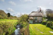 Philham Water Holiday Cottage Hartland North Devon - fairytale thatched 16C holiday cottage beside a stream in an area of outstanding natural beauty